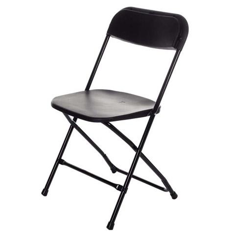 Plastic Folding Chair - Sam Black