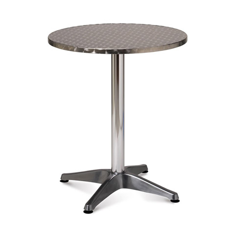Aluminium Single Pedestal Table (700mm Round, Height: 740mm, Weight: 7.5Kg)