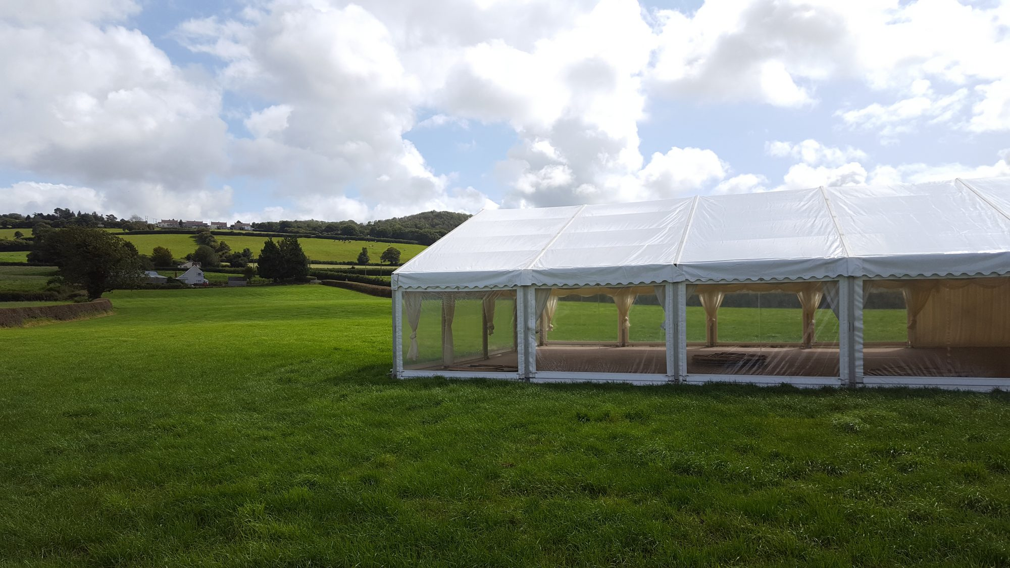 Marquee Wedding View
